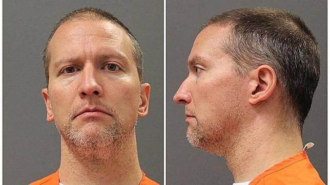 Foto mugshot Derek Chauvin berbaju tahanan yang dirilis di sebuah penjara di Minneapolis, Minnesota, US. Ia ditangkap setelah terekam video menindih leher George Floyd dengan lutut hingga tidak dapat bernafas dalam sebuah penangkapan, hingga korban pingsan dan tewas setelah dirawat di rumah sakit. Department of Corrections Minnesota/Reuters