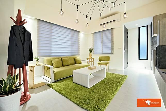 草原色系的客廳空間