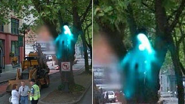 Penampakan bayangan biru di Seattle, Amerika Serikat (Google Earth)