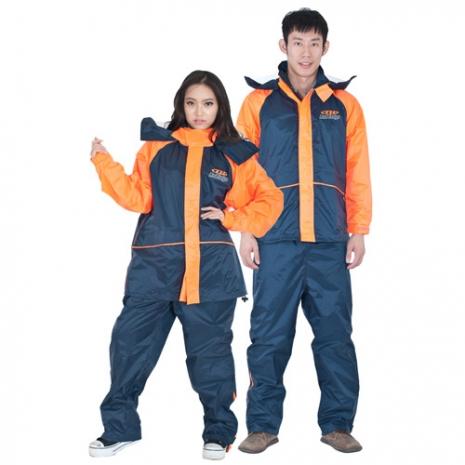 達新牌 迎光橘休閒套裝二件式風雨衣 M