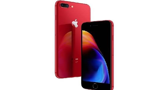 iPhone 8 merah diluncurkan Apple pada Senin (9/4). [Suara.com/Apple.com]