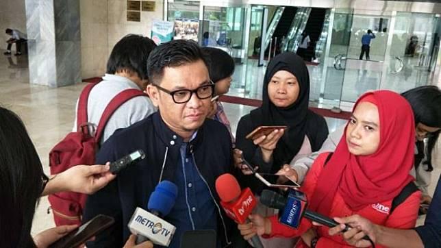 Juru Bicara TKN Ace Hasan Syadzily di Gedung DPR, Senayan, Jakarta.