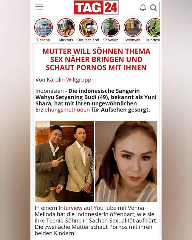 Media Jerman soroti soal Yuni Shara temani dua anaknya nonton film dewasa. (Foto: Instagram @lambe_turah)
