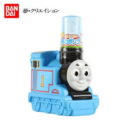 泡沫幕斯洗髮精,不易流入眼睛。 湯瑪士小火車立體瓶身,讓洗澡變得更有趣。