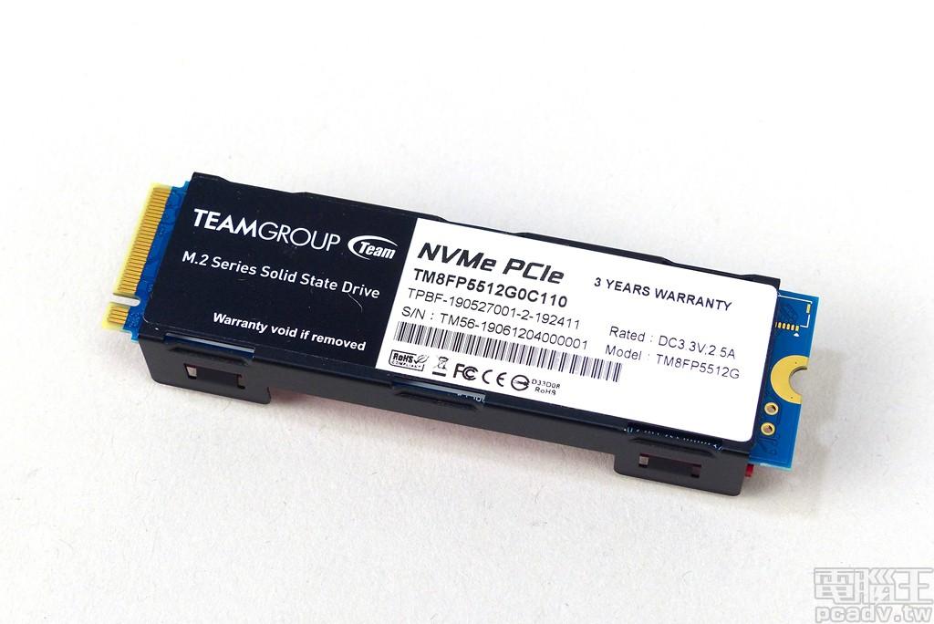 ▲ Cardea II M.2 PCIe SSD 背面貼上型號貼紙,貼紙表明此產品最大電源需求為 +3.3V/2.5A,並享有 3 年保固。