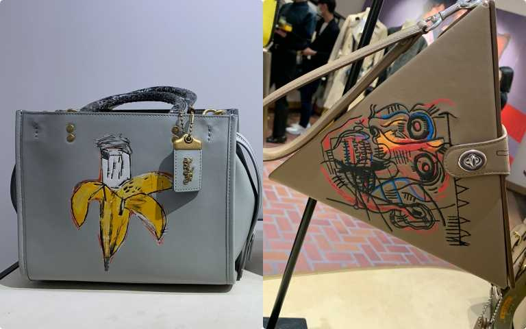 COACH X JEAN MICHEL BASQUIAT BROWN SPOTS AND SNAKE HANDLE ROUGE BAD/35,800元(圖/陳瑋 攝)