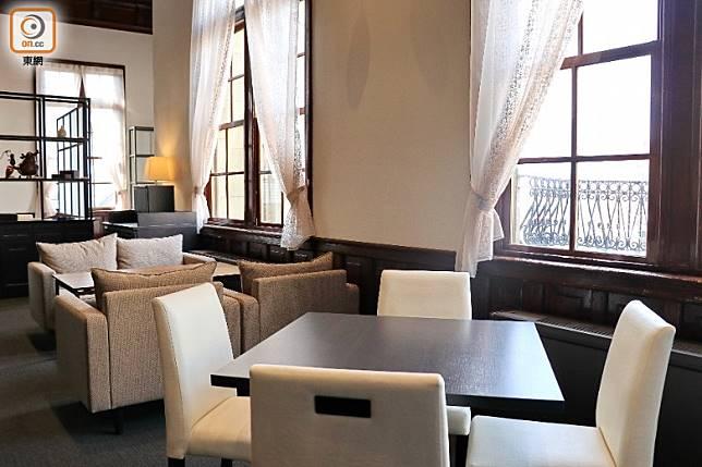 昔日2樓裝潢奢華、餐具精緻的洋食食堂「MIKADO食堂」亦再次回歸。(李家俊攝)