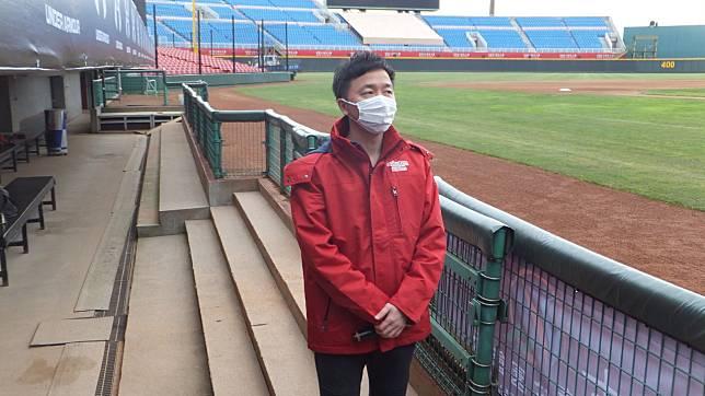 猿隊日籍領隊川田喜則期待新球季開打,認為台灣很幸運能進行開幕戰。記者藍宗標/攝影