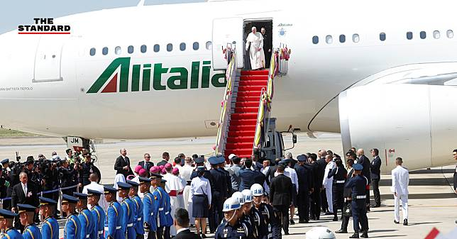 สมเด็จพระสันตะปาปาฟรานซิสเสด็จถึงประเทศไทยแล้ว