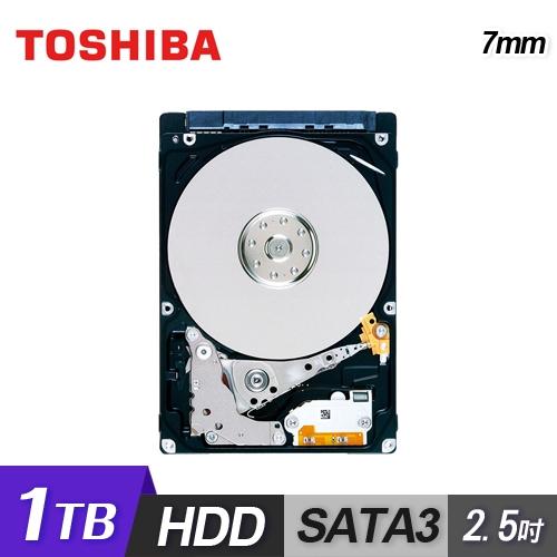 筆記型電腦專用、超輕薄品名 / 規格:【TOSHIBA 東芝】7mm 1TB 2.5吋硬碟 兩年保固(MQ04ABF100)特色:2.5 吋、7mm 高度適用於輕薄筆電特色:單張碟片即有 1TB 容量