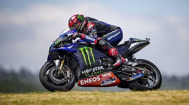 Pebalap tim Monster Energy Yamaha Fabio Quartararo (HO via Yamaha Motor Racing Srl)
