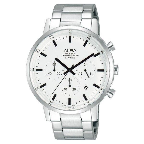 ALBA VD53-X296S(AT3D35X1)東京原創三眼計時腕錶/白 42mm