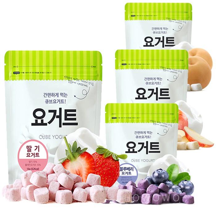 韓國 米餅村 乳酸菌優格球,四種口味:草莓、蘋果、藍莓、水梨1. 含有18億優質乳酸菌,輕鬆補充寶寶每日所需乳酸菌2. 來自優格的優質蛋白質!經急速冷凍鎖住營養和乳酸菌3. 立體的形狀,寶寶容易抓取,