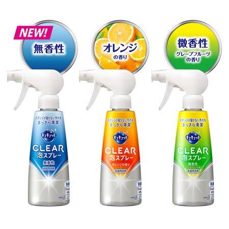 日本 KAO 花王 Kyukyutto CLEAR 泡沬噴霧洗碗精 300ml 洗碗 清潔劑 清潔 廚房 除菌 油垢 洗碗精B063193