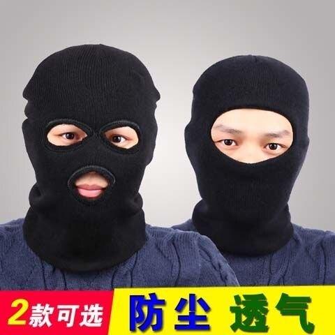 交換禮物-防風帽冬季男士套頭帽騎車防風帽蒙面頭套真人CS土匪帽子特種帽反恐面罩
