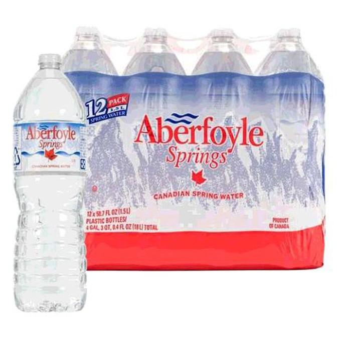 商品敍述此商品為常溫配送。產地 : 加拿大。適合隨時補充水分,也適用於接待賓客。品名 Aberfoyle 泉水內容量/入數 1.5公升x12入商品重量 19公斤成分 泉水保存方式 請避免陽光直射,存放