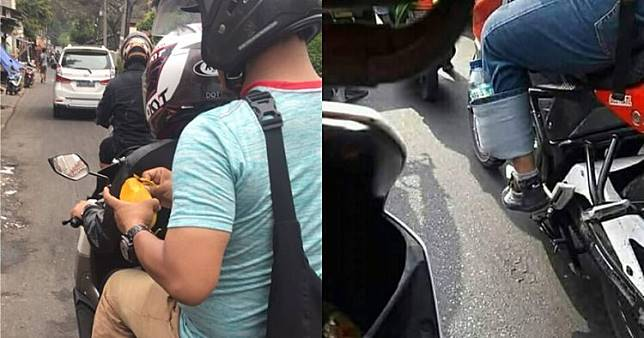 10 Kelakuan lucu cowok naik motor, bikin cekikikan