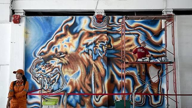 Menikmati Grafiti Dan Mural Di Pedestrian Jakarta