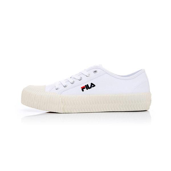 FILA中性餅乾帆布鞋-白
