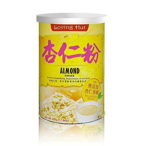 精選杏仁原豆,蒸熟後去皮,再經低溫乾燥、烘焙後研磨成粉,n無添加杏仁香精,保有杏仁的天然清香味