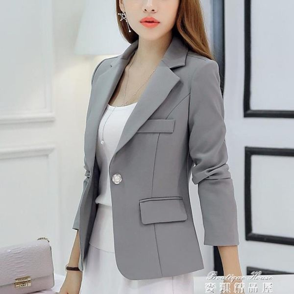 現貨出清西裝外套女 西裝外套女秋裝新款韓版修身長袖女士休閒百搭小西服短款 1-22