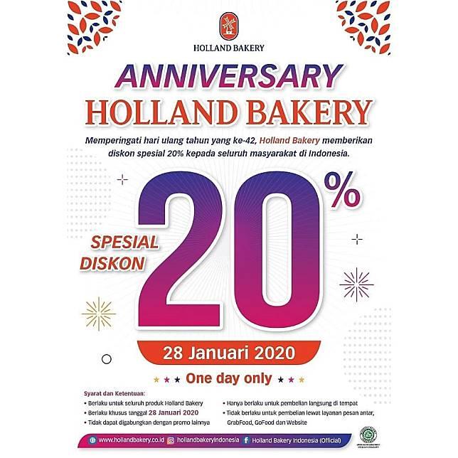 Holland Bakery Promo Anniversary Diskon 20 Holland Bakery Line Today