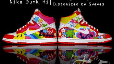 "Nike Dunk Hi ""Volkswagon Hippie Bus"" 美國繪畫藝術家 Swaves 新作鞋款"