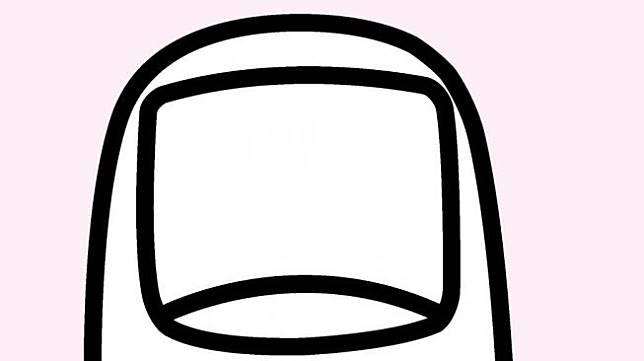 Ilustrasi bentuk kuku lebar persegi panjang (squarish). (Shutterstock)