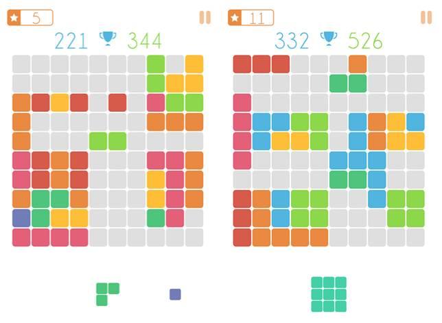 只要將方塊填滿一直線,就能成功消除方塊。