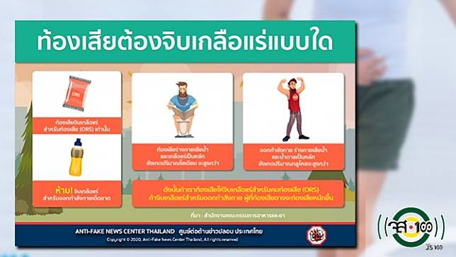 ท้องเสีย ให้จิบเกลือแร่สำหรับคนท้องเสีย อย่า! จิบเกลือแร่สำหรับนักกีฬา จะยิ่งท้องเสีย