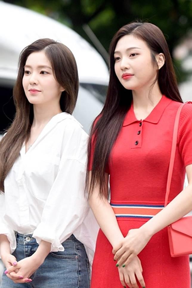 Irene(左)與Joy亦榜上有名。