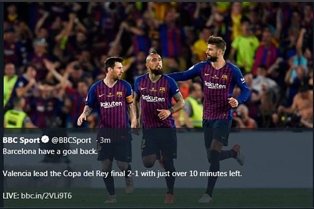 Messi, Suarez, dan Pique Berdebat Panas Usai Kalah di Final Copa Del Rey