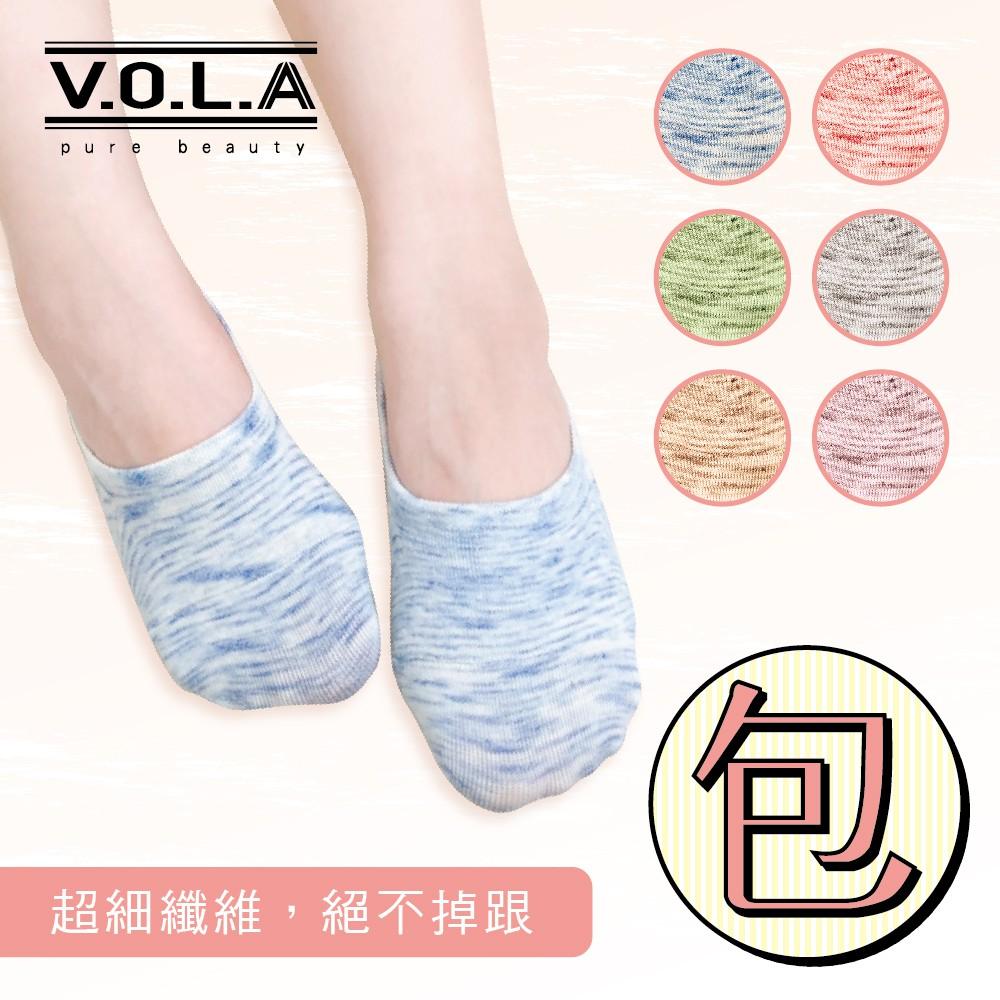 [VOLA] 韓風 強力包覆 雲彩柔 日系花紗 矽膠不掉跟 淺口隱形襪套 女襪 [滿499元送涼感船襪]