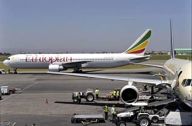 This file photograph taken in January 2010, shows an Ethiopian Boeing 737 aircraft as it leaves a hangar in Nairobi. The 737 MAX 8 is currently grounded worldwide after the March crash of Ethiopian Airlines Flight 302, which killed all 157 people onboard and drew scrutiny to the new Boeing model's anti-stall system.