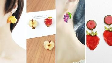 水果可頌耳環超逼真!10款夏日水果耳環「夾式+針式」,無耳洞也能配戴
