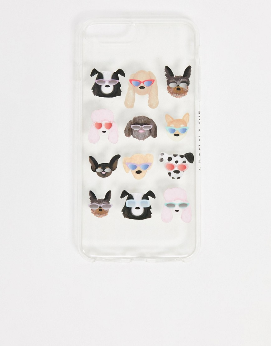 iPhone case by Skinnydip Match your phone to your mood Dog-themed design Soft silicone case Fits the iPhone 6/6s/7 plus and 8 plus Logo to side