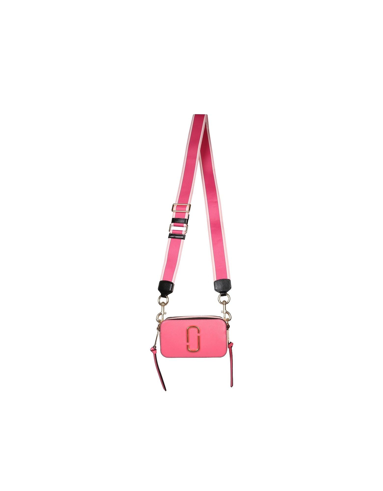 Adjustable and removable oversize shoulder strap in grosgrain with snap hook, double compartment wit