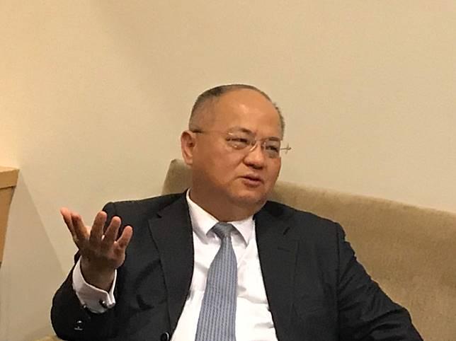 ▲富邦金控總經理韓蔚廷。(圖/記者顏真真攝)