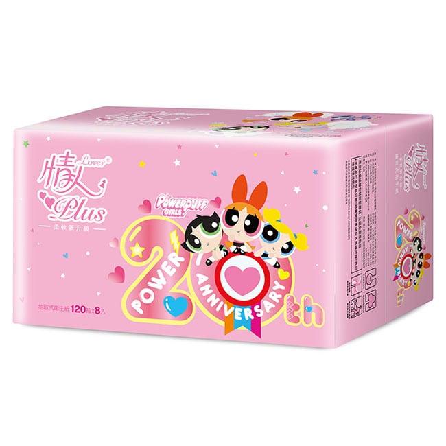 【情人】飛天小女警授權版抽取式衛生紙120抽*8包*8串-箱購