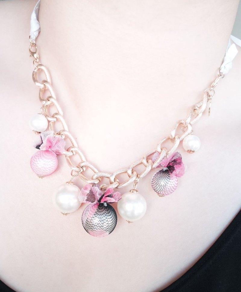 蕾絲 Lace 珍珠 頸鍊/手鍊 (兩用)