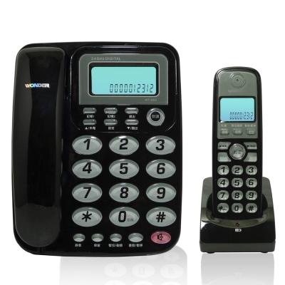 母機具2組直撥記憶鍵母機具靜音功能母機子機皆具40組電話簿記憶停電時母機仍可使用母機子機相互呼叫及通話