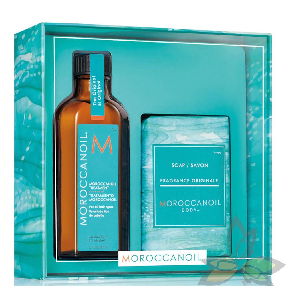 【預購特惠】摩洛哥優油 MOROCCANOIL 禮盒組 經典護髮油100ml+美體潤澤皂200g【百奧田】