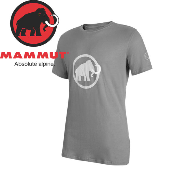 【Mammut Logo T-Shirt 男《花崗岩灰》】1041-07291-0823/排汗透氣/有機棉/戶外機能服/登山休閒★滿額送