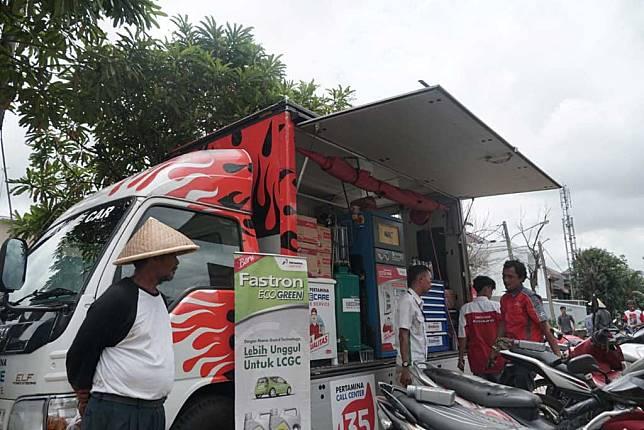 Ratusan Motor Manfaatkan Layanan Ganti Oli Gratis Pertamina Lubricants