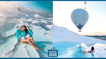 踏進天然雲朵溫泉區️土耳其絕美棉花堡