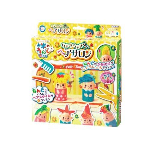 日本銀鳥 - 銀鳥無毒純米黏土-小小髮型設計師4色組(附模具)
