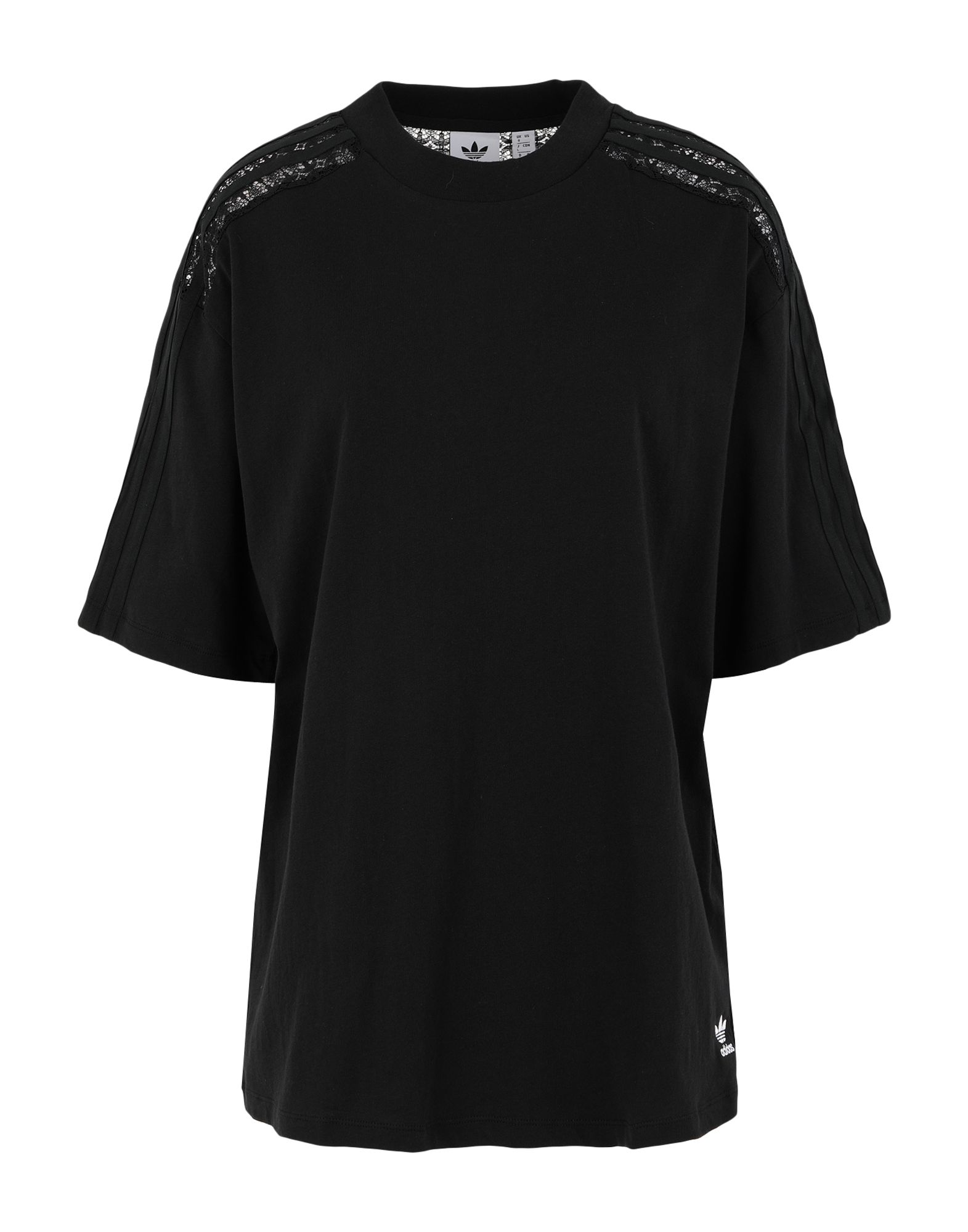 lace, jersey, logo, solid color, round collar, short sleeves, lifestyle.