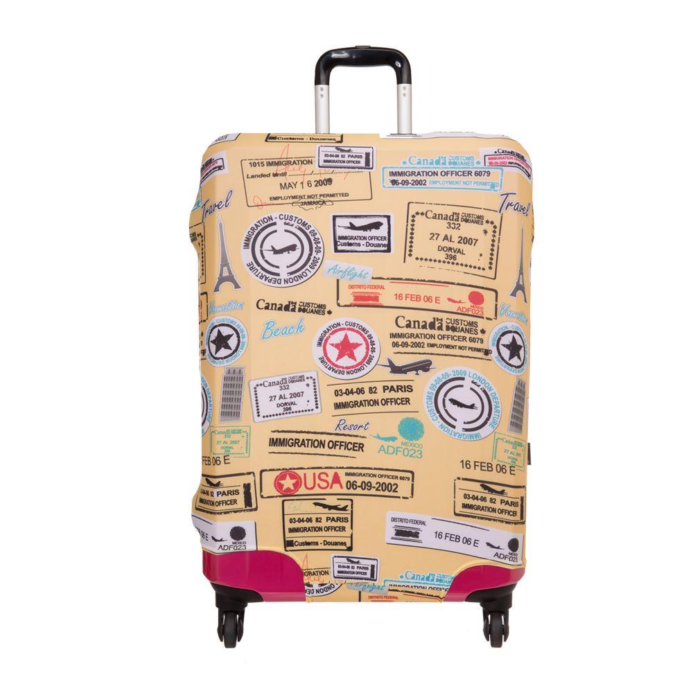 【OUTDOOR】行李箱保護套-黃L ODS15B06LYL