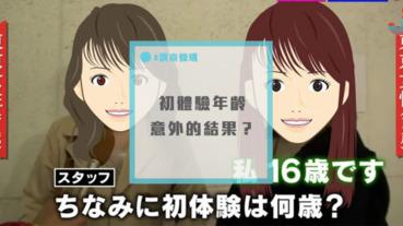 街訪調查:日本全國男女的初體驗年齡?連受訪者都意外的結果!