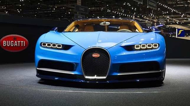 Bugatti Chiron di Geneva International Motor Show 2016. Sebagai ilustrasi GIMS di Palexpo, Geneva, Swiss [Shutterstock]